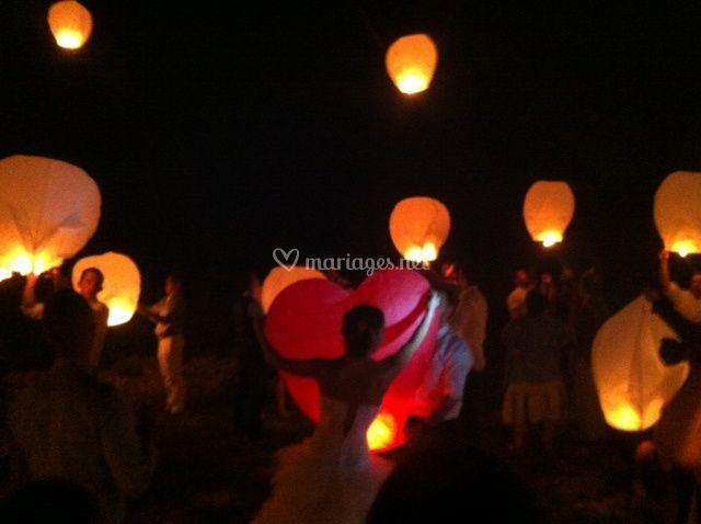 Envole de lanterne