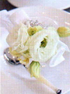 Décoration fleurs blanches