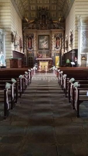 Bouts de banc d'église