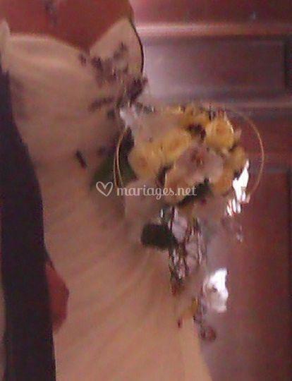 Bouquet de mariée jaune
