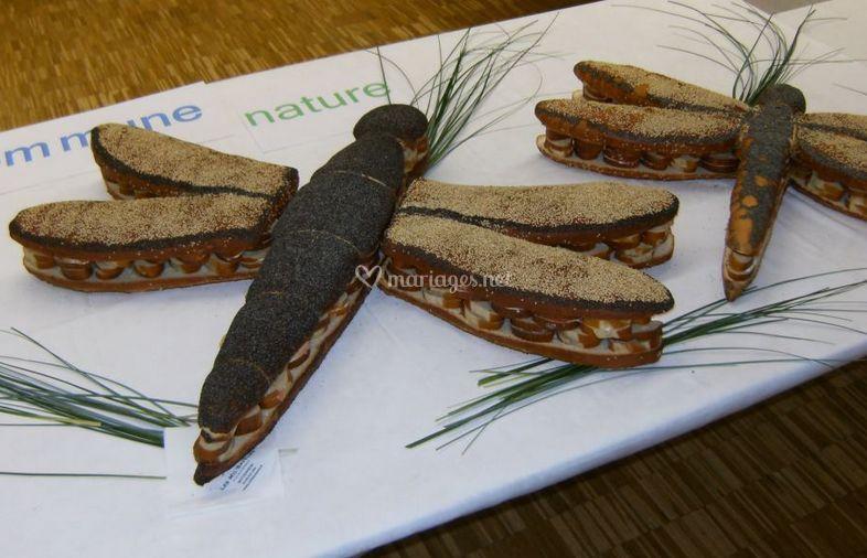 Libellules en pâte à bretzel