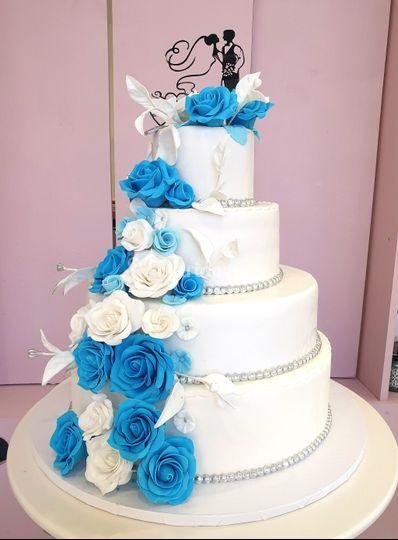 Wedding bleu et blanc