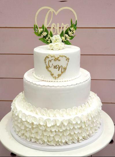 Blanc or wadding cake
