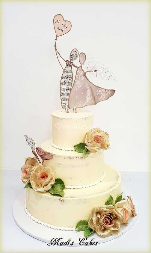 Gâteau De Mariage Vanillé De Madis Cakes Photo 13