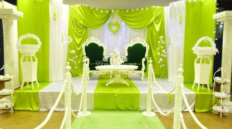 Espace élégant pour les mariés
