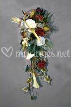 Bouquet chute de fleurs