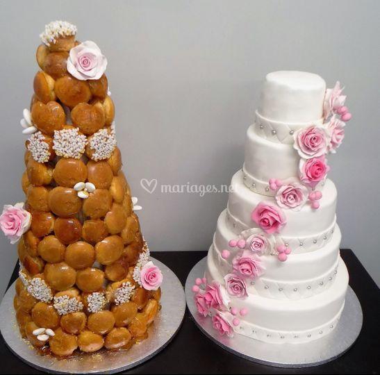 Pièce montée et wedding cake