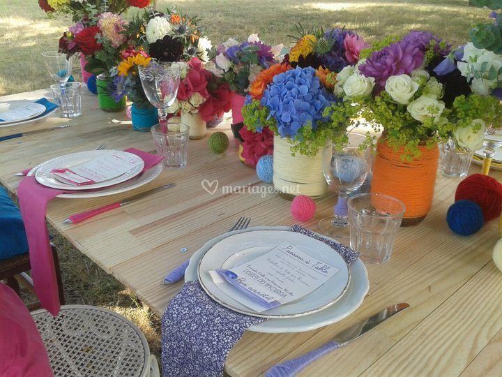 Table aux couleurs Pep's