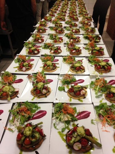 Tarte fine de légumes