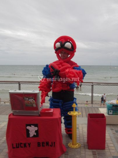 Costume de Spiderman en ballon