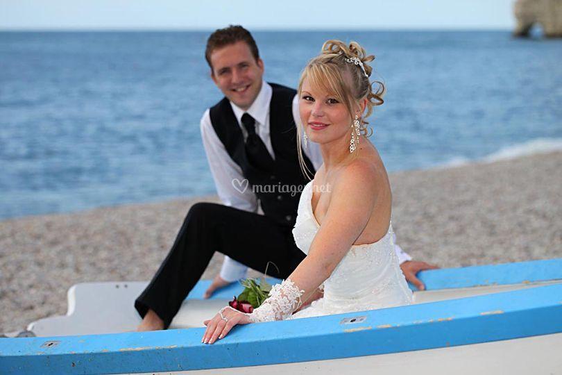 Mariés à la plage
