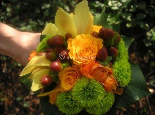 Bouquet rond champêtre