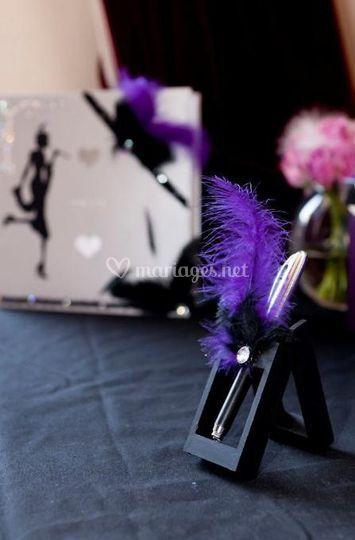 Plume violette