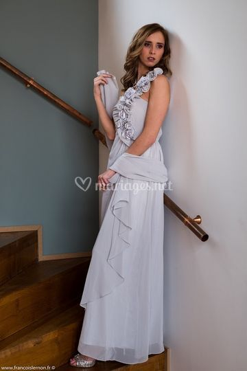 Robe coctail grise