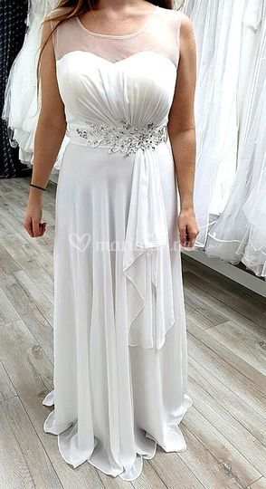 Robe coctail blanche
