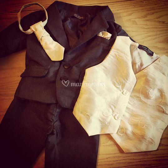 Costume enfant noir/ivoire