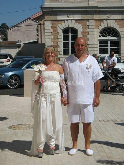 Ensemble tenues de mariés
