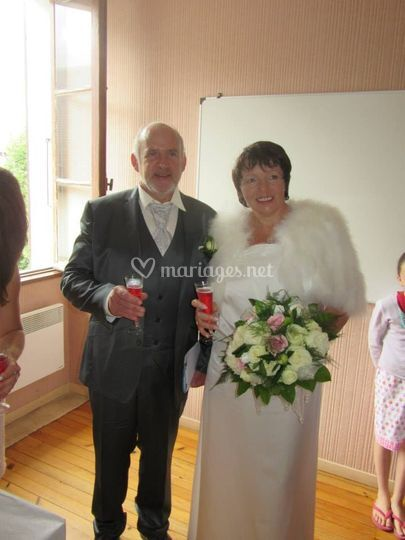 Robe de mariée satin de soie