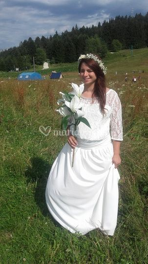 Robe de mariée bohème ivoire