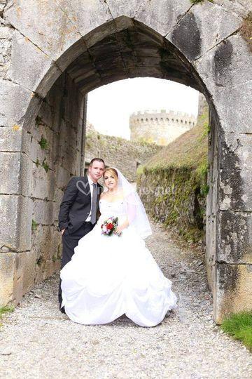 Robe de mariée satin et strass