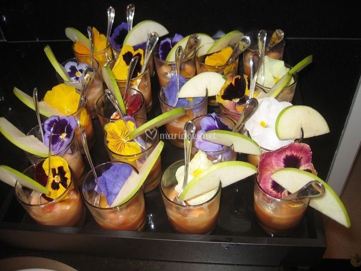 Verrines fleurs & fruits