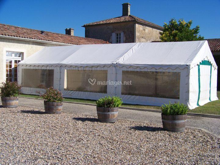 Tente réception 60 m²