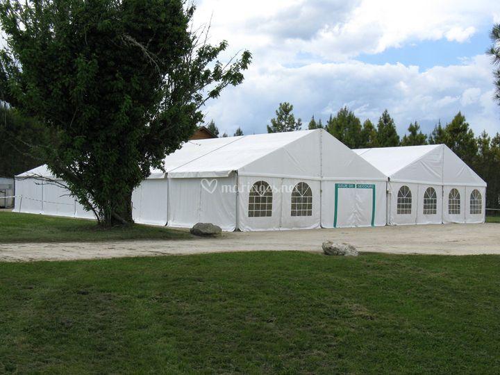 Structure alu largeur 10m+10m
