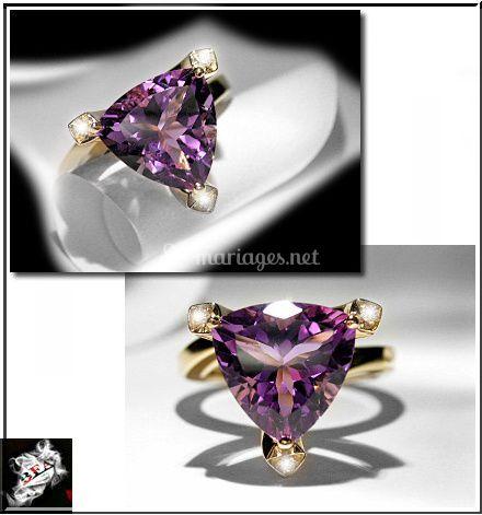 Améthyste / Diamants