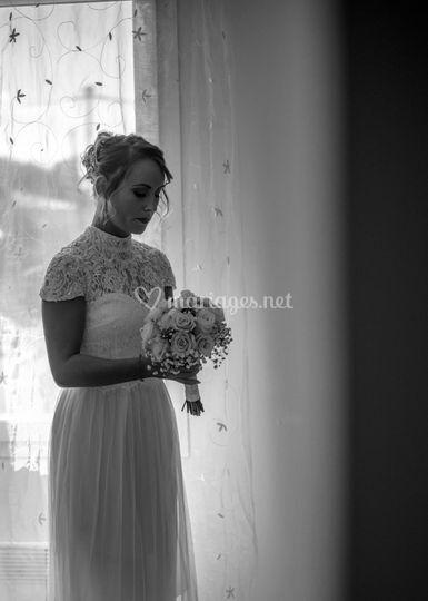 La mariée attend le départ
