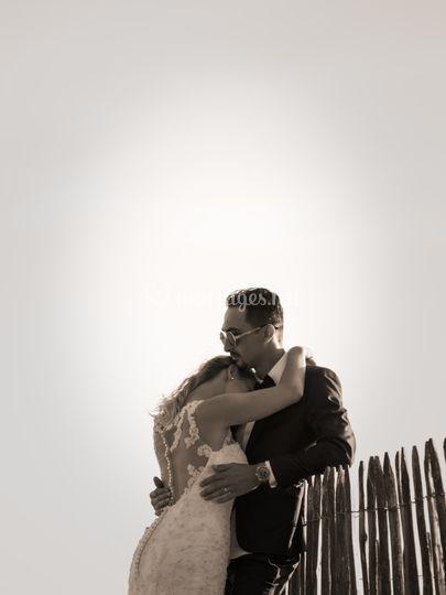 Photo de couple noir et blanc