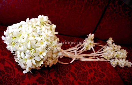 Bouquet tombant mariage