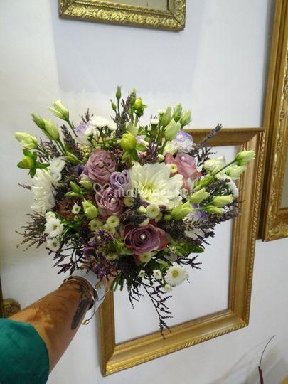 Bouquet mariée lavande