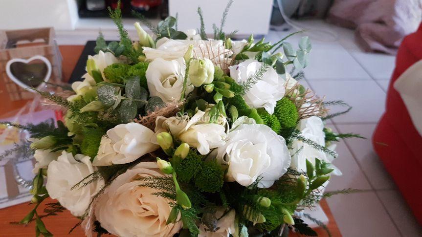 Bouquet de mariées thème champ