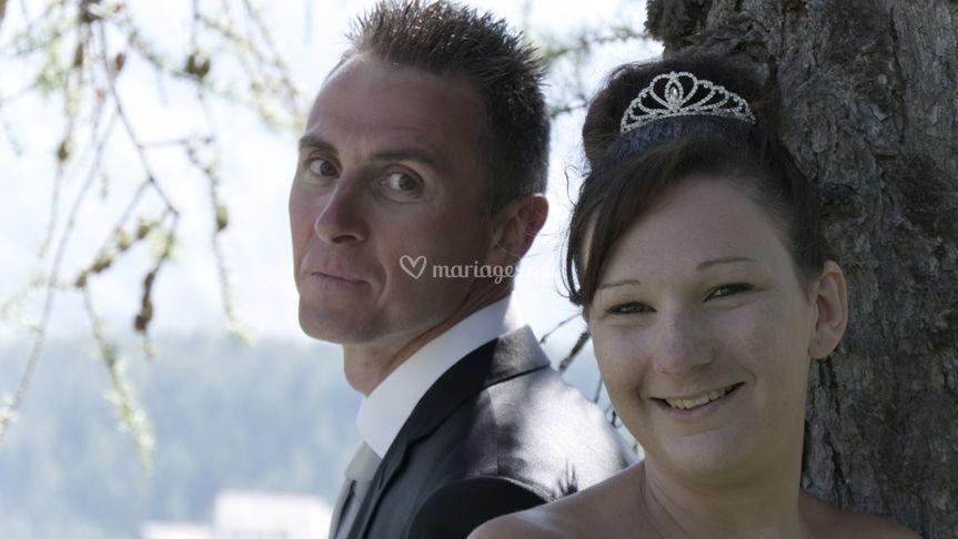 Deux beaux mariés