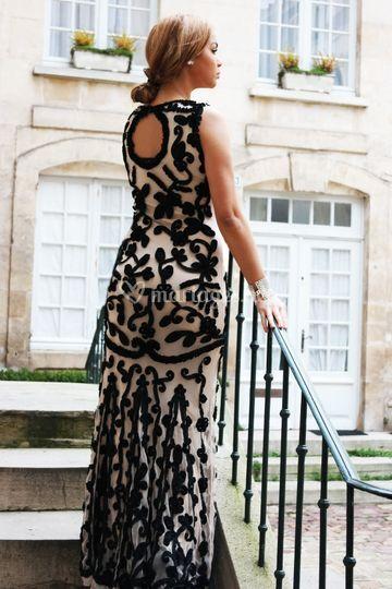 Robe de soirée modèle baccarat
