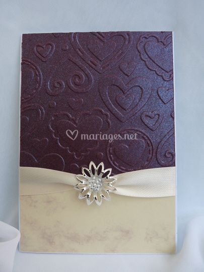 Faire-part mariage Coeur