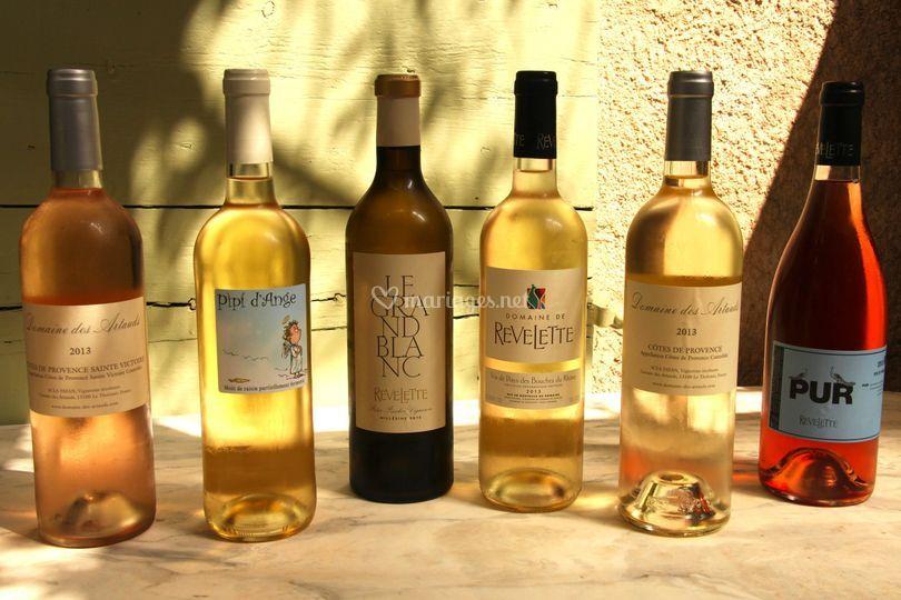 Vins blancs et rosés