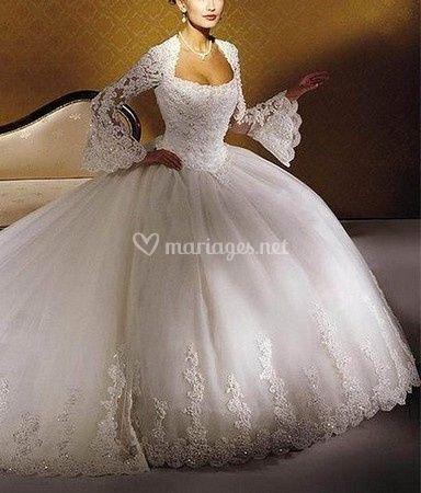 Robe de mariée manches lognues