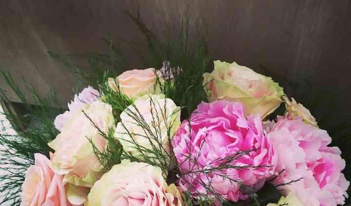 Bouquet de pivoine et rose
