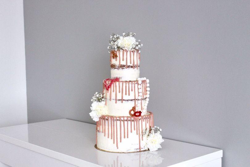 Naked cake thème bijoux