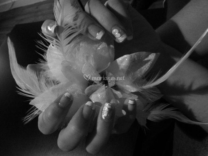 Nail art spécial mariage