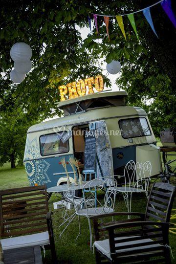 Caravane vintage photobooth