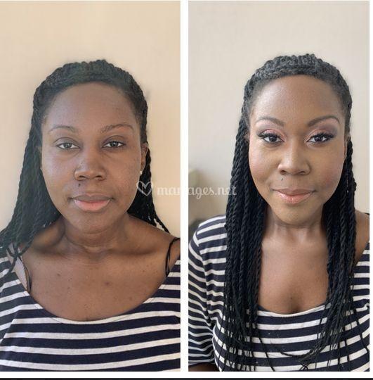Avant après maquillage