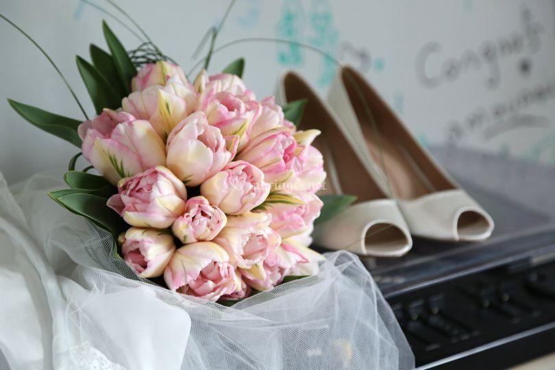 Préparatifs bouquet