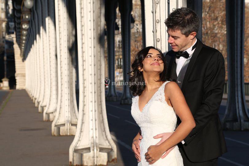 Mariage hiver à Paris