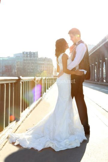 Photos couple mariage a Paris