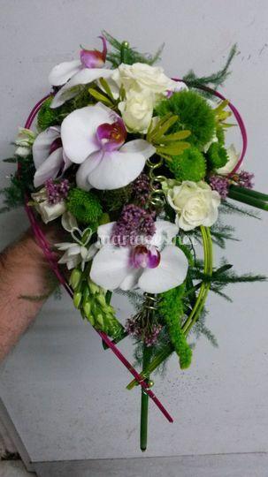 Bouquet de mariée chute