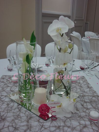 Claire d co fleurs for Vase plat centre de table