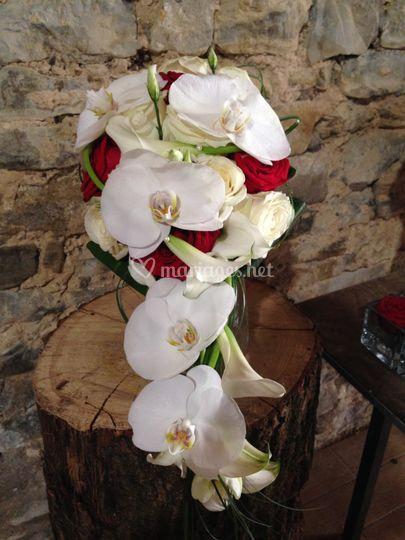 Bouquet mariée retombant