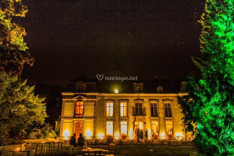 Vue de nuit du château